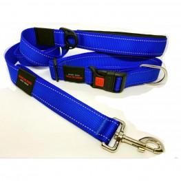 Комплект для крупных собак MATIS-PET Широкий Синий (Ошейник+Поводок)